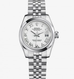 Jam Tangan Mewah Rolex Lady-Datejust 26 Steel & White Gold
