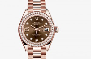 Jam Tangan Mewah Rolex Lady-Datejust 28 Everose Gold and Diamonds