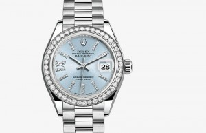 Jam Tangan Mewah Rolex Lady-Datejust 28 Platinum and Diamonds